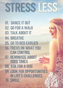 Moins de stress Restez en forme pour perdre du poids