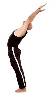 Hasta Uttanasana or (Raised arms pose)