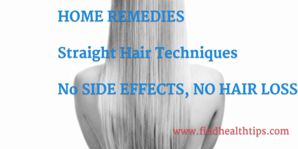 Straighten Your Hair Naturally