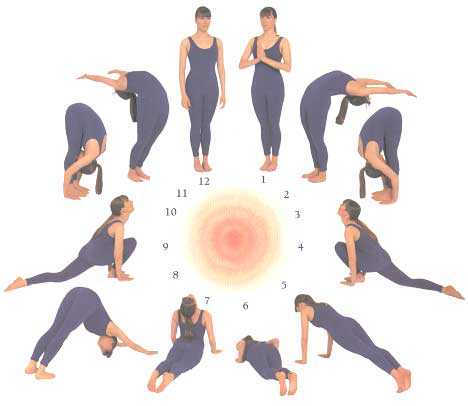 Surya Namaskar Step By