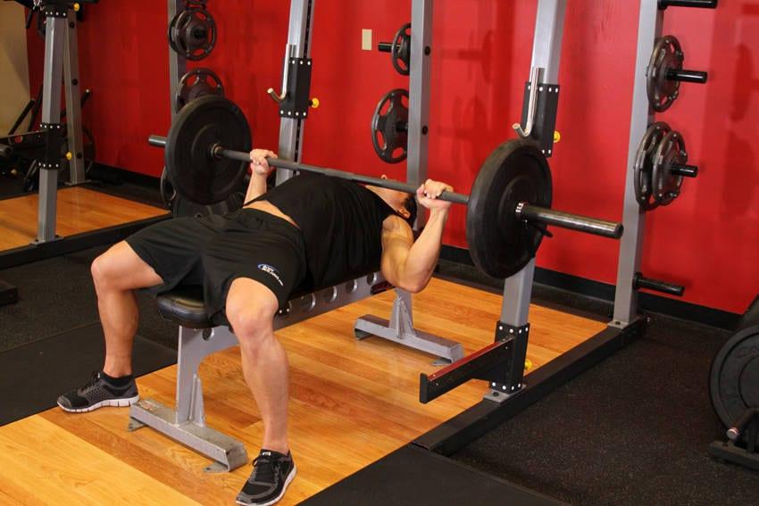 Barbell bench press – medium grip