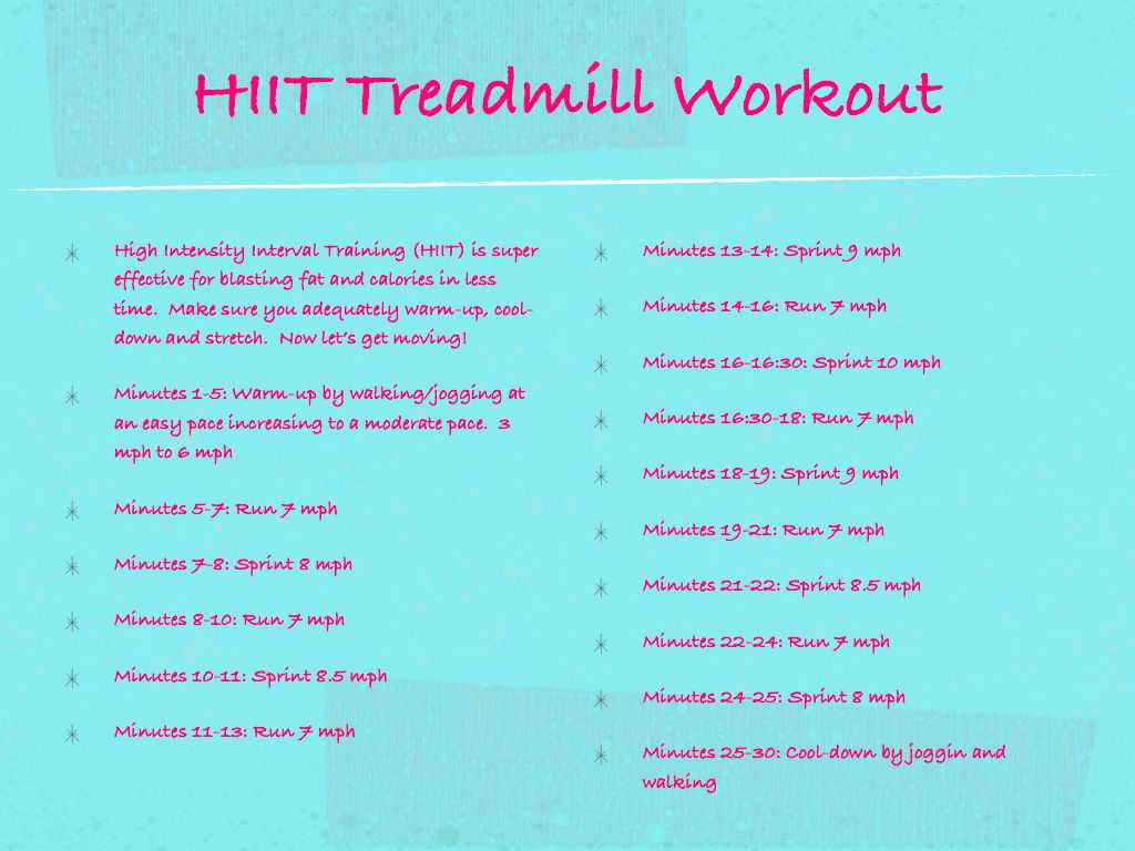 Best HIIT Treadmill Workout To Burn Fat - Find Health Tips