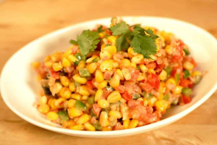Corn chaat