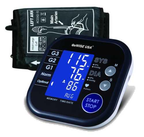 GoWISE USA Digital Upper Arm Blood Pressure Monitor