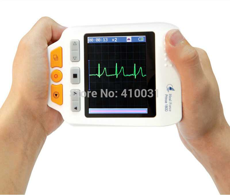Colour Screen Handheld Portable Electrocardiogram ECG Monitors