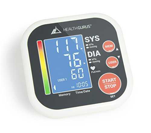 Health Gurus Professional Upper Arm Blood Pressure Monitors