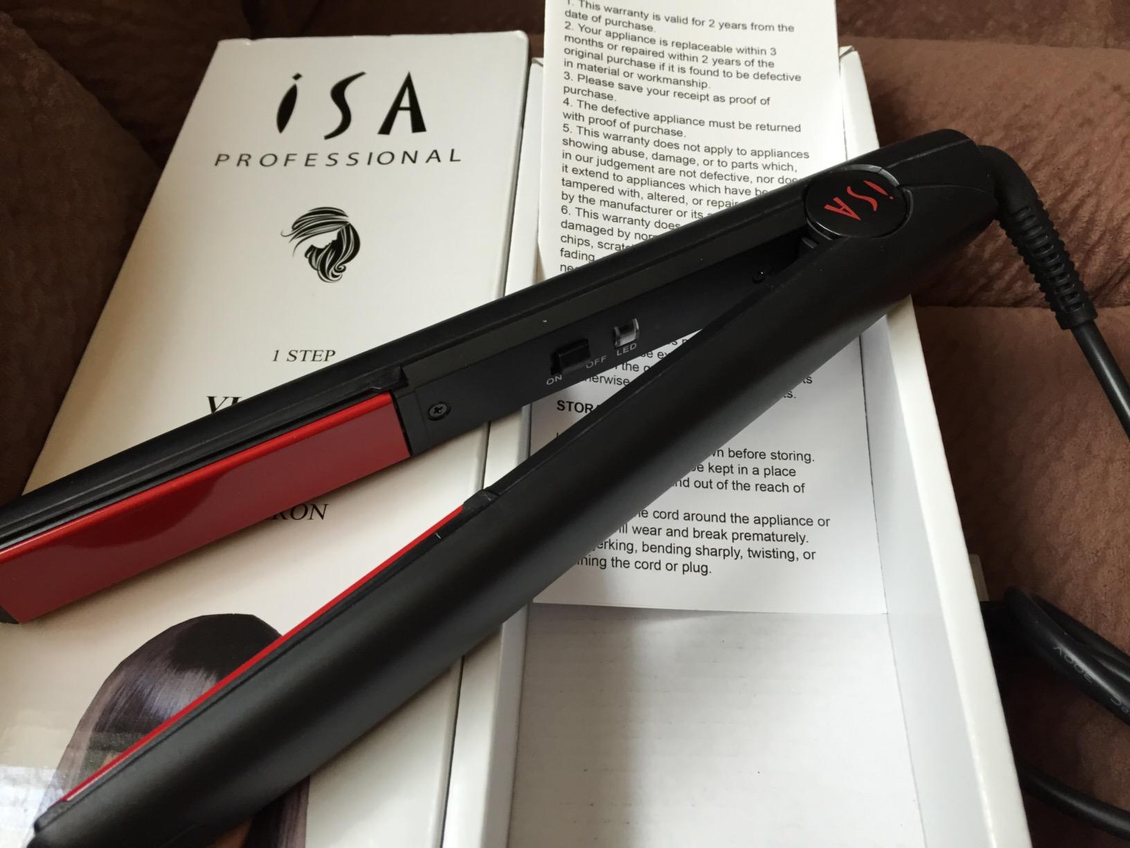 Isa Professional Victoria Flat Iron Hair Straightener