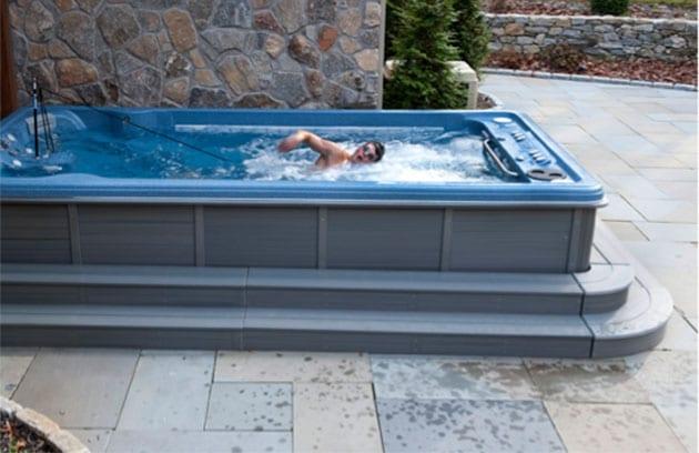 top 10 swim spas reviews in 2018 find health tips. Black Bedroom Furniture Sets. Home Design Ideas