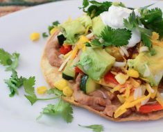 Simple Veggie Tostadas