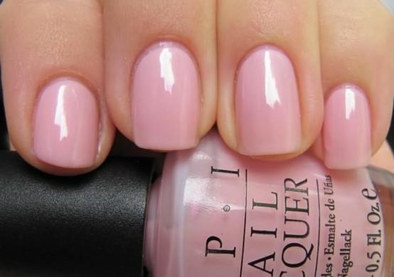 nail colors light pink