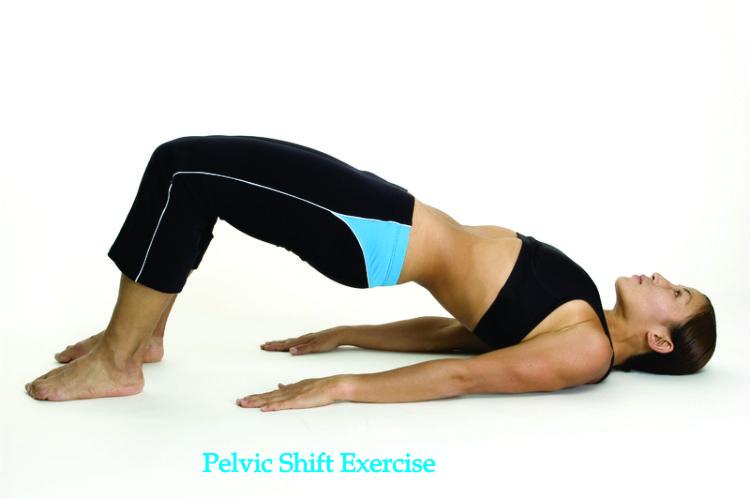 Pelvic shift exercise