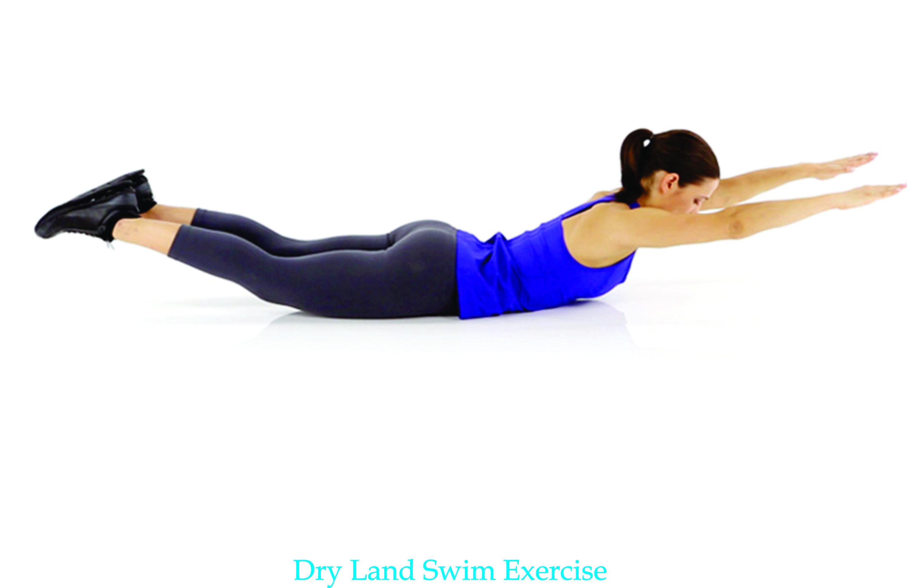 dry land swim exercise