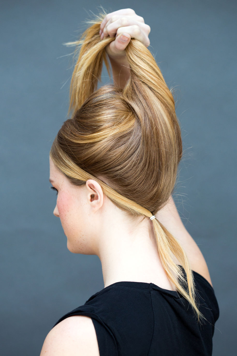 Super volume double ponytail