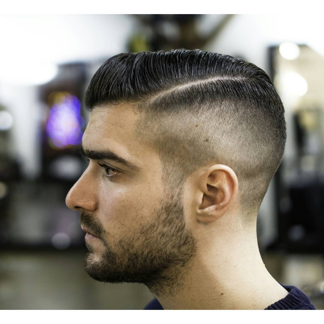 Half Side Part Popular Haircut For Men in 2018