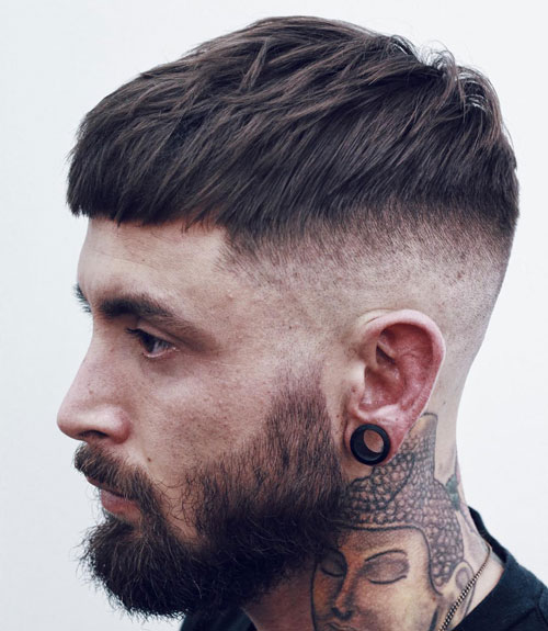 Short French Crop Popular Haircut For Men in 2018