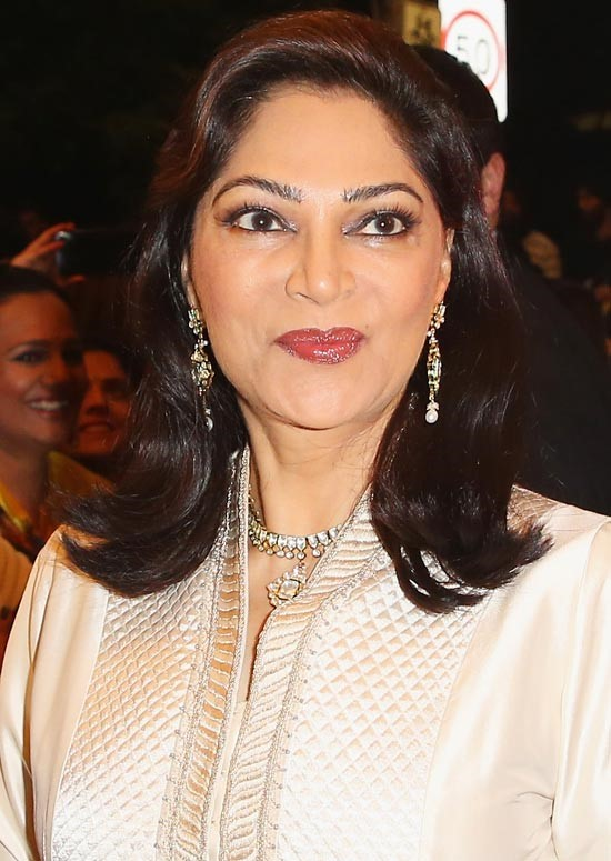 Simi Garewal Bollywood Actress Hairstyle