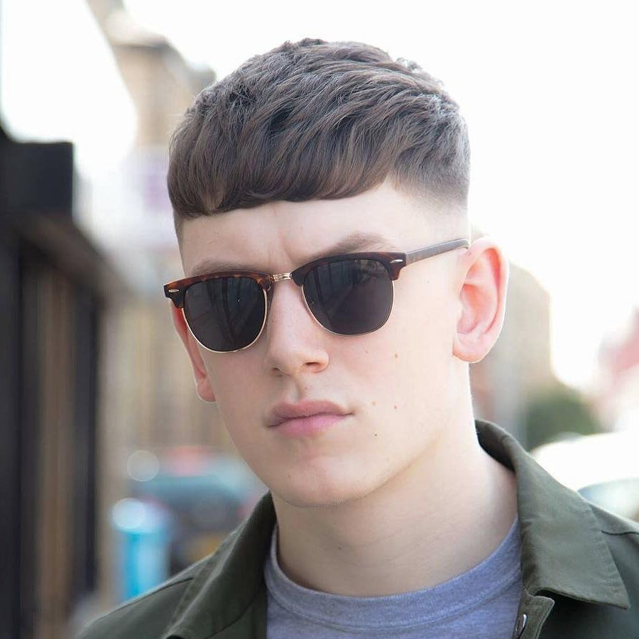 Straight Frinze Haircut for Men 2018