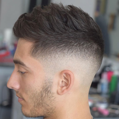 Textured Mid Skin Fade Popular Haircut For Men in 2018