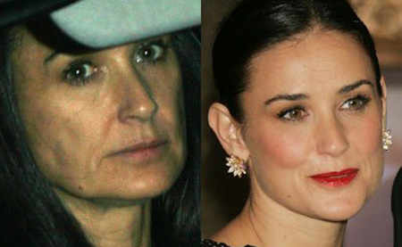 Demi Moore No Make Up