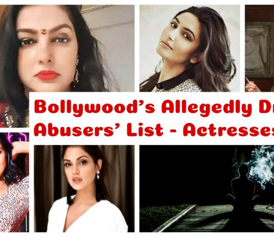 bollywood druggist actresses - Collage of Bollywood Actresses