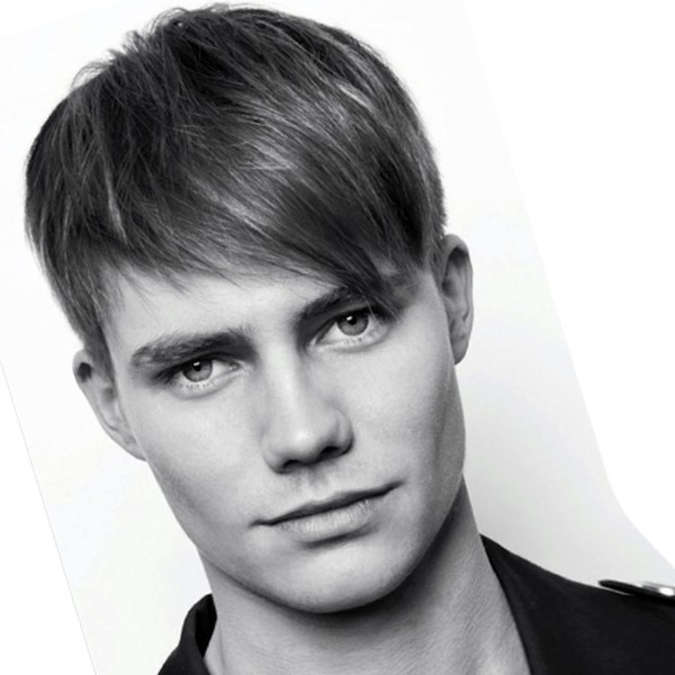 Angular Fringe Hairstyle for Men 2018