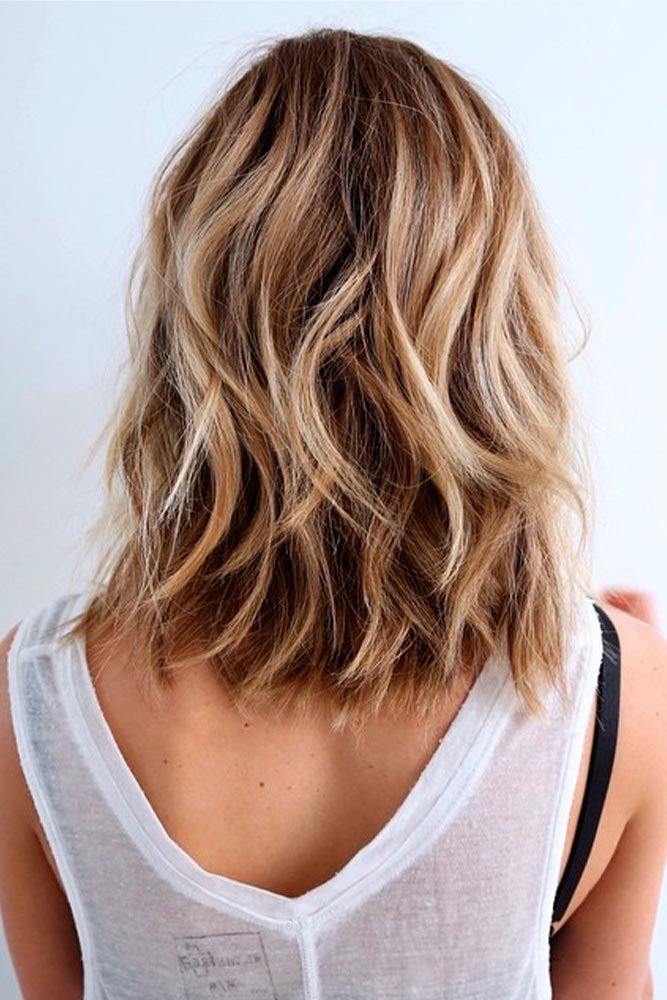 Beach Style hairstyles for girls with medium hair