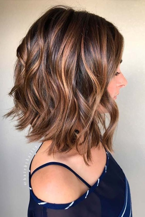 Chocolate Wave hairstyles for girls with medium hair