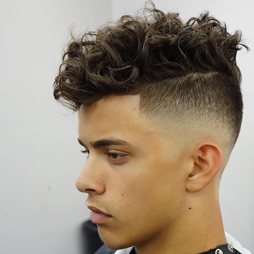 Curly UnderCut Hairstyle for Men 2018