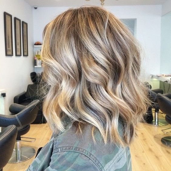 Even Balayage hairstyles for girls with medium hair