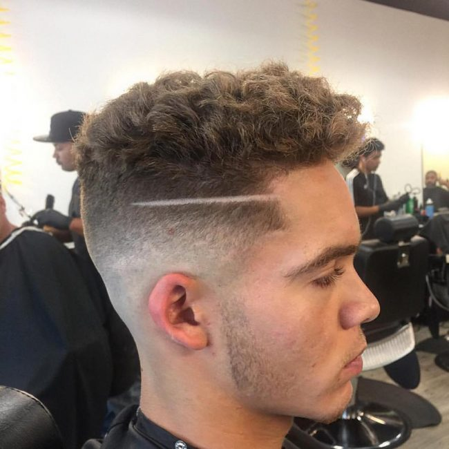 Fading Curls Hairstyles for Boys
