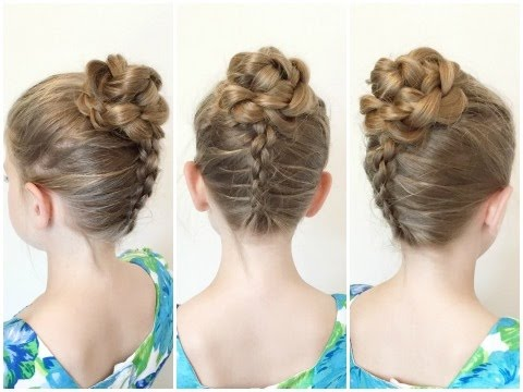Flower Accented Bun