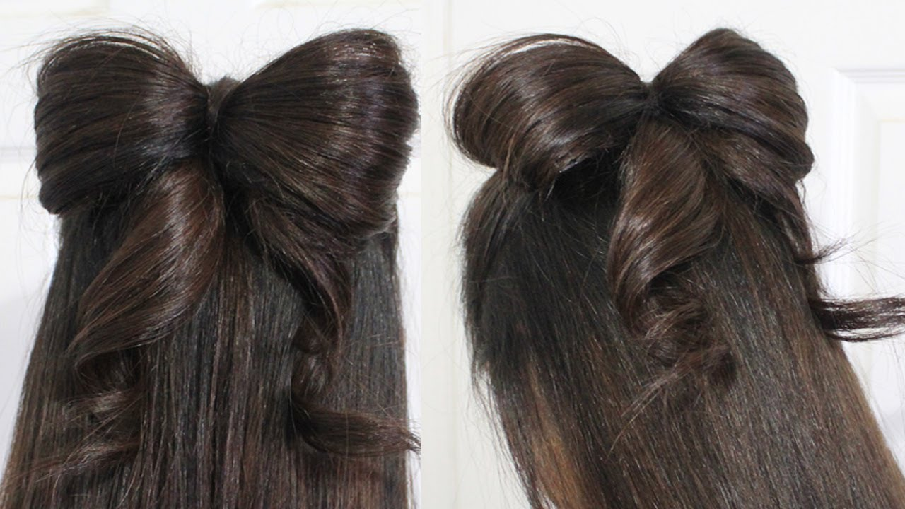 Halfup Bow Long Hairstyles