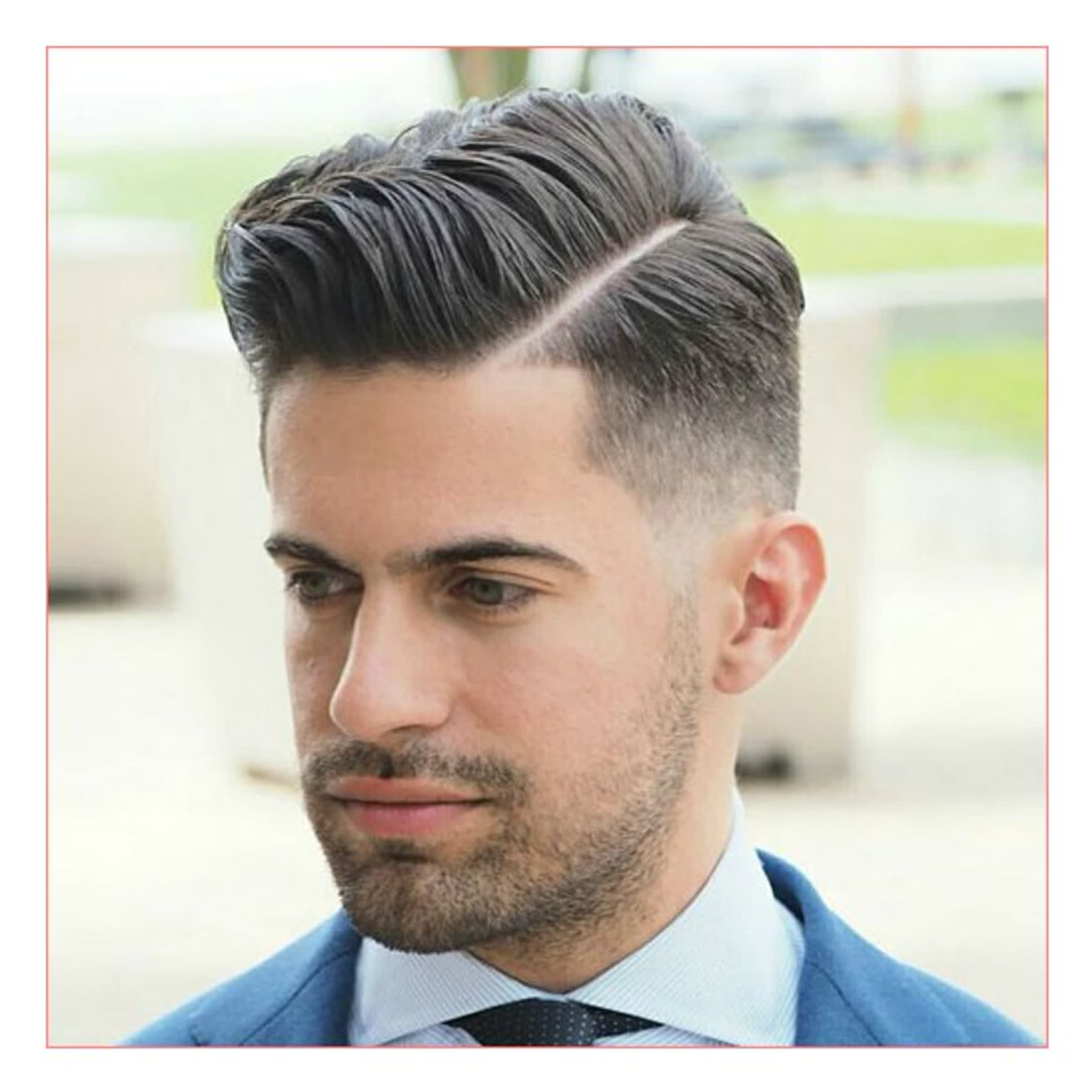 Hard Side Part Hairstyle for Men 2018