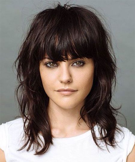 Heavy Fringe Hairstyles for Girls with Medium Hair