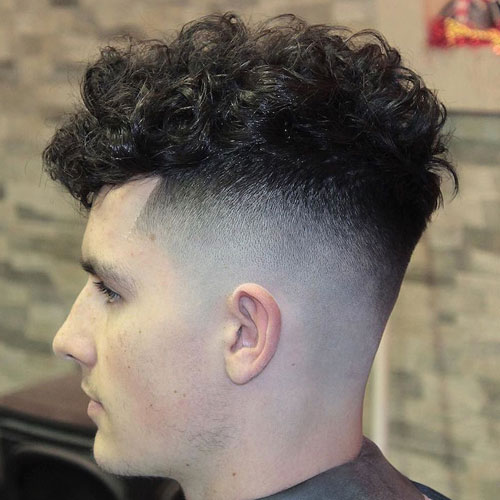 High Fade Curls Hairstyles For Boys