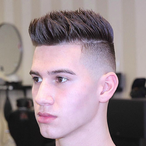 High Spiky Fade Hairstyle for Men 2018