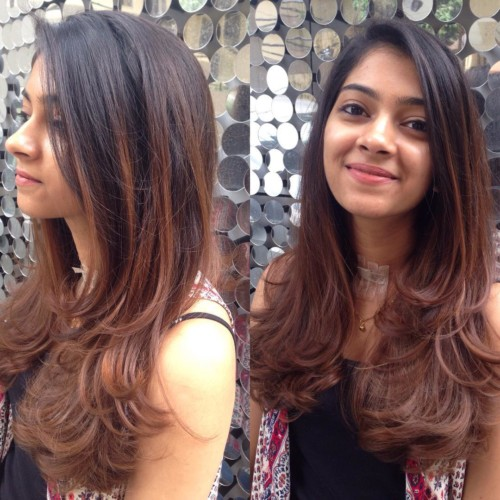 Layered With Balayage - Straight Hairstyle for Women