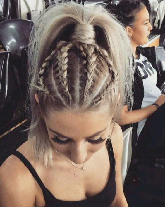 Light End Braids hairstyles for girls with medium hair