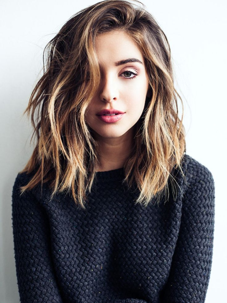 Loose Waves Hairstyles for Girls with Medium Hair