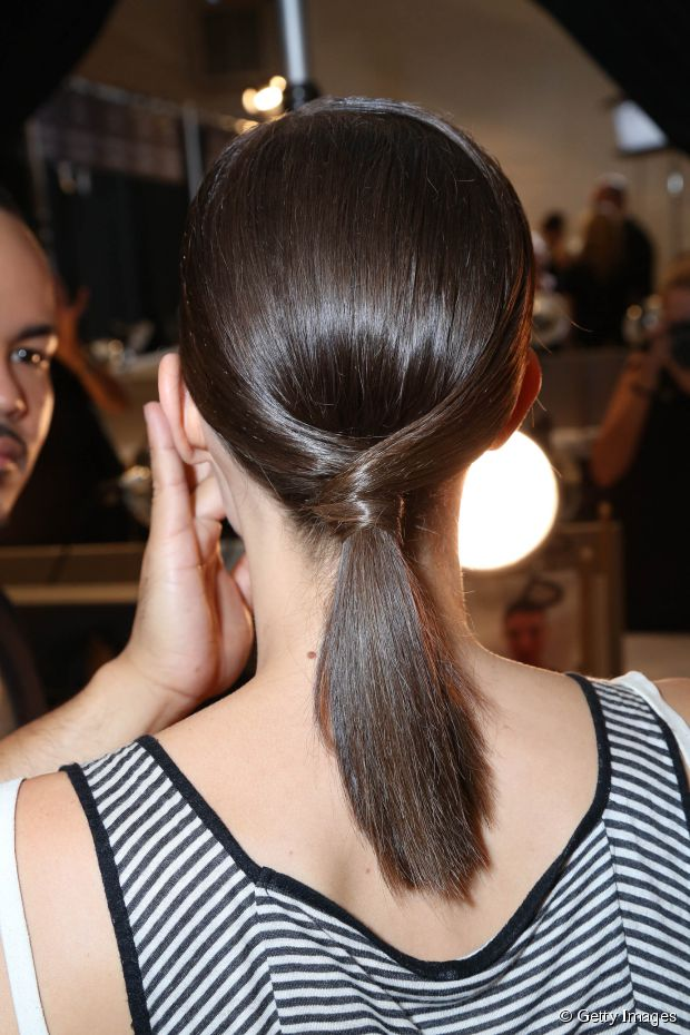 Low Ponytail Hairstyles for Girls with Medium Hair