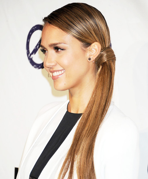 Low Ponytail Straight Hairstyle for Women