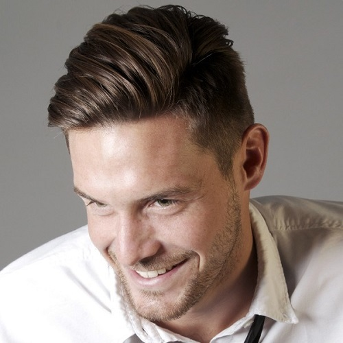 Medium Combover Hairstyle For Men 2018