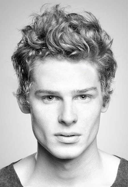 Messy Curls Hairstyle for Men 2018