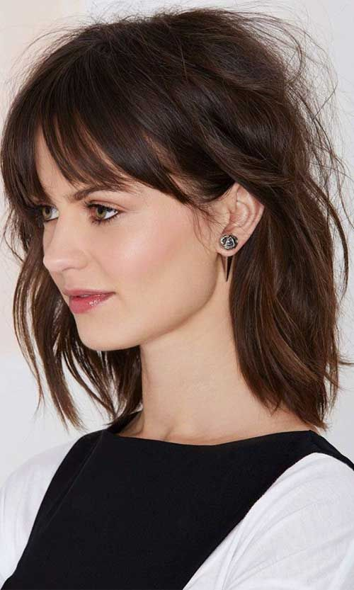 Mid Length with Bangs Hairstyles For Women