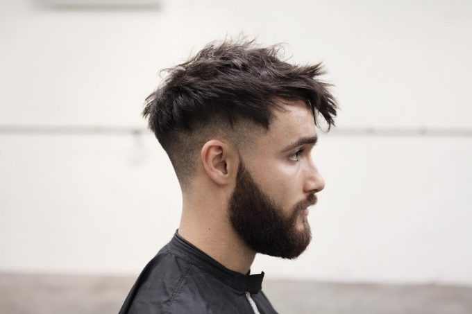 Mid Messy Hairstyle for Men 2018