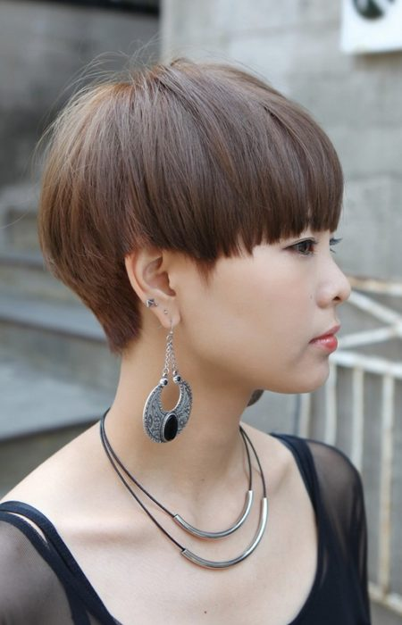 Mushroom Cut Hairstyle for Women