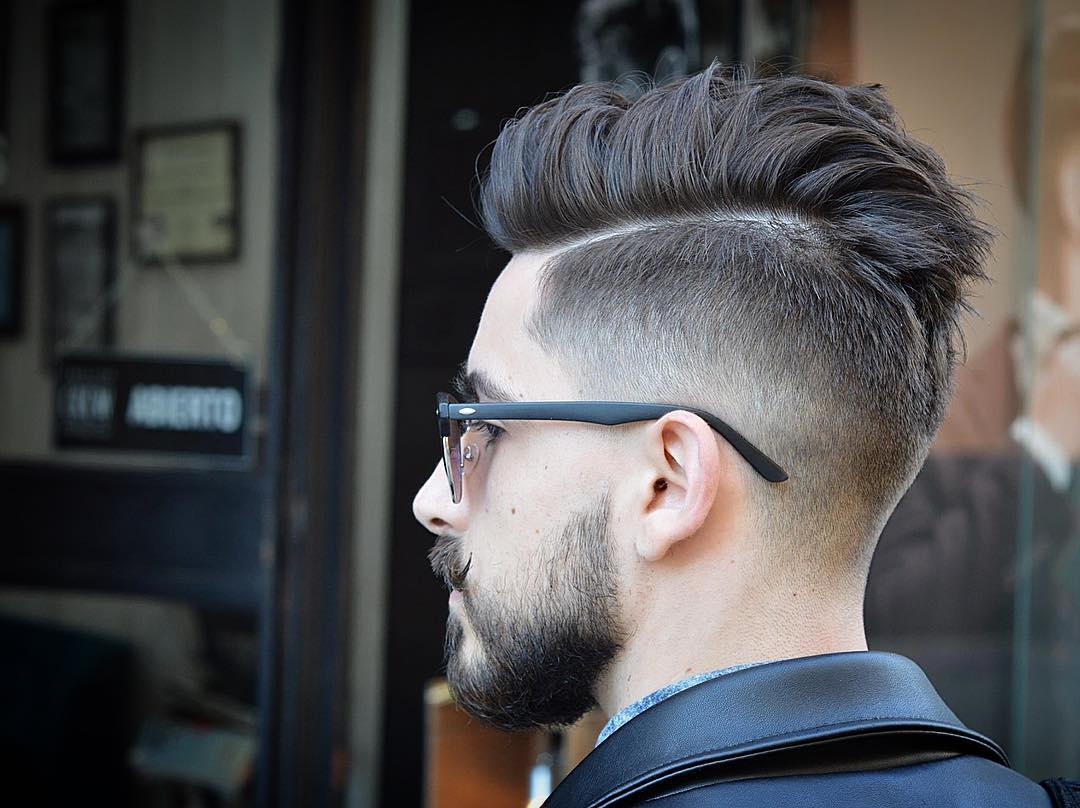 Pomp with Undercut Hairstyles for Boys