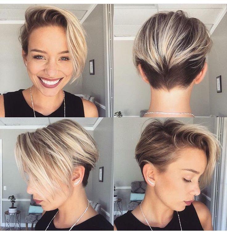 Shiny Pixie Undercut Hairstyles For Women