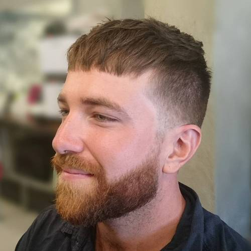 Short Messy Caesar Hairstyle for Men 2018