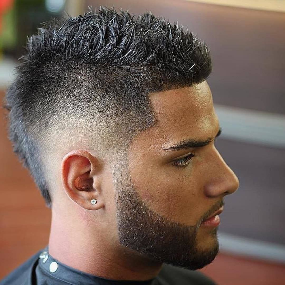 Side Fade Mohawk Hairstyle for Men 2018
